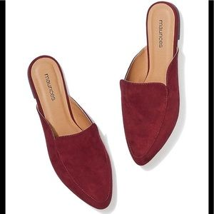 NEW Flat Faux Suede Mules